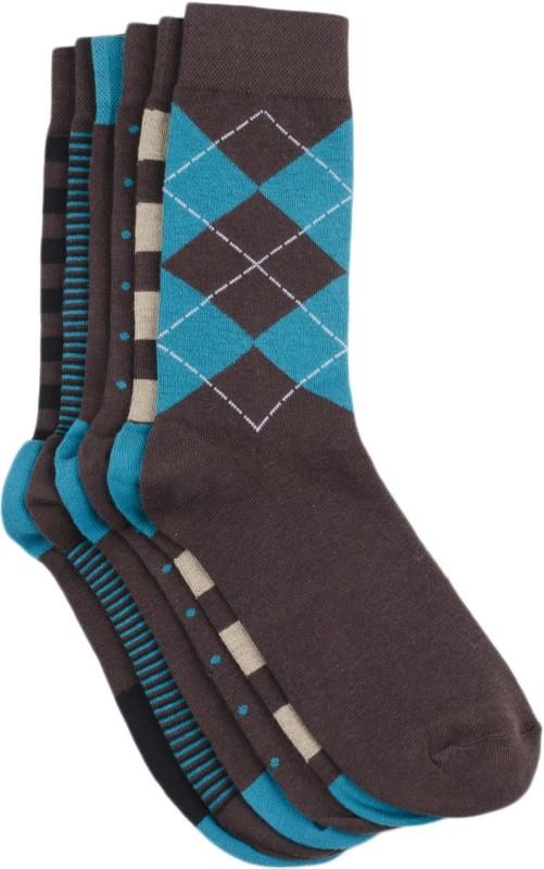 Tossido Mens Woven Crew Length Socks(Pack of 6)