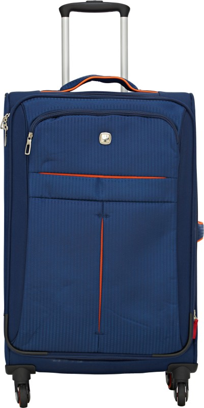 Swiss Gear 23.5 Spinner Navy/ Orange Expandable Check-in Luggage - 23 inch(Blue)