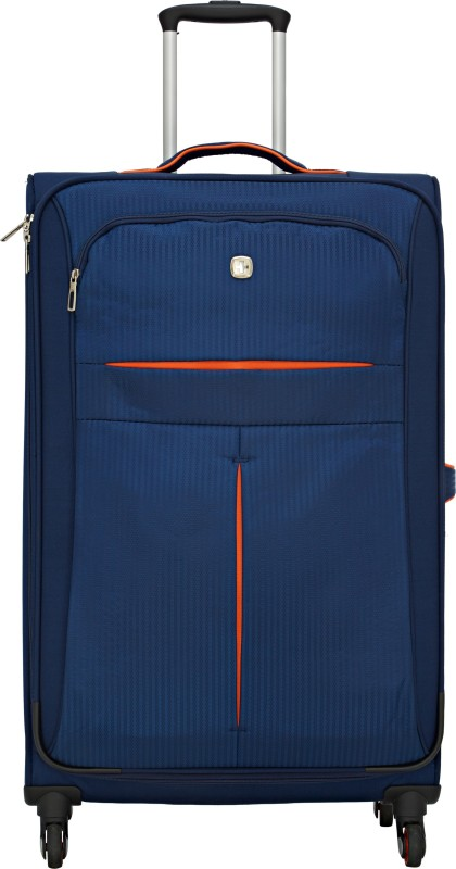 Swiss Gear 28 Spinner Navy/ Orange Expandable Check-in Luggage - 28 inch(Blue)