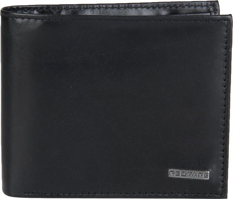 Red Tape Men Black Genuine Leather Wallet(7 Card Slots)