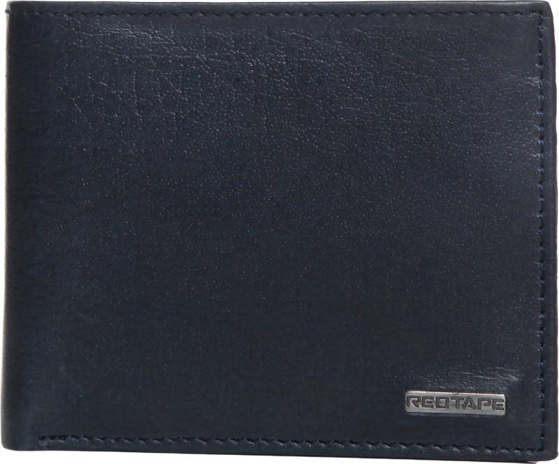 Red Tape Men Blue Genuine Leather Wallet(3 Card Slots)