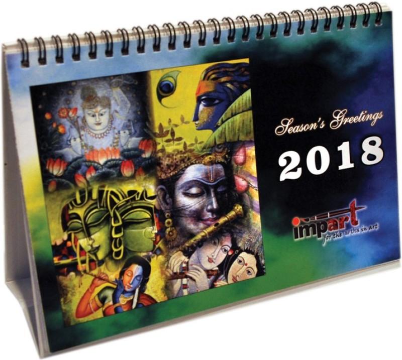 impart CAL02 2018 Table Calendar(Multicolor, KRISHNA)