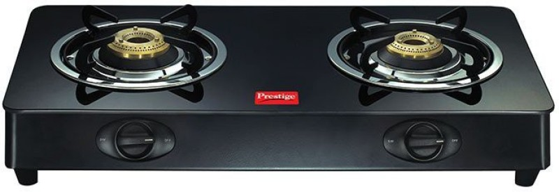 Prestige ROYALE 2 BURNER GLASS TOP GAS STOVE Glass Manual Gas Stove(2 Burners)