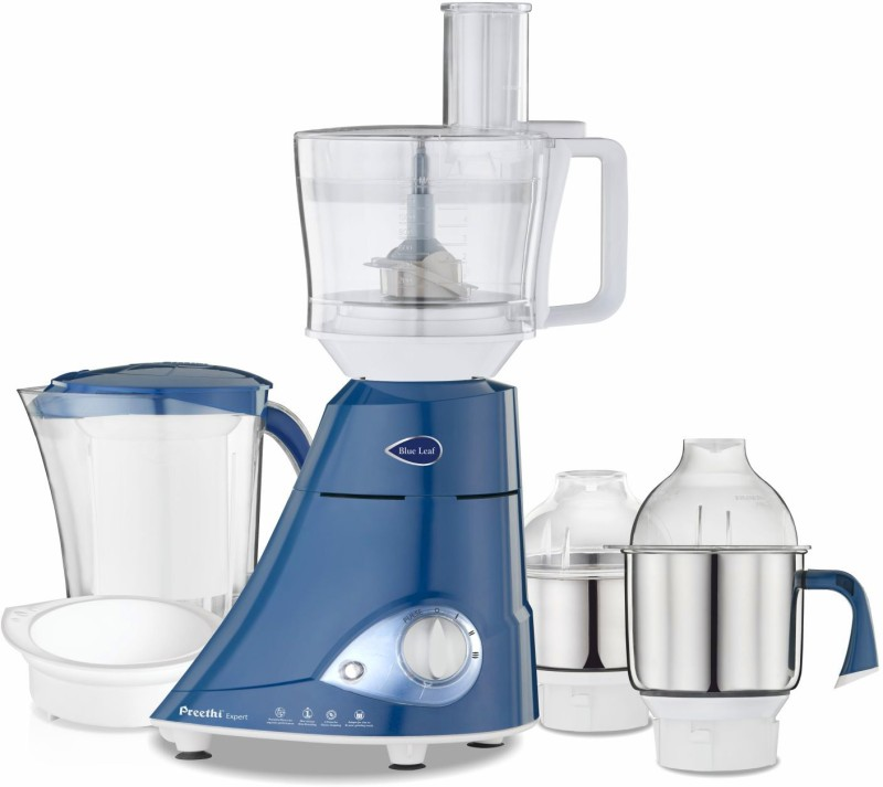 Preethi Blue Leaf Expert MG 214 750 Juicer Mixer Grinder(Blue, 4 Jars)