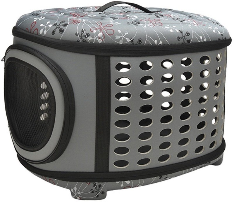 SRI Travel Fold Able Pet Carrier Bag For Cat And Puppy -Small Grey Basket Pet Carrier(Suitable For Cat, Dog)