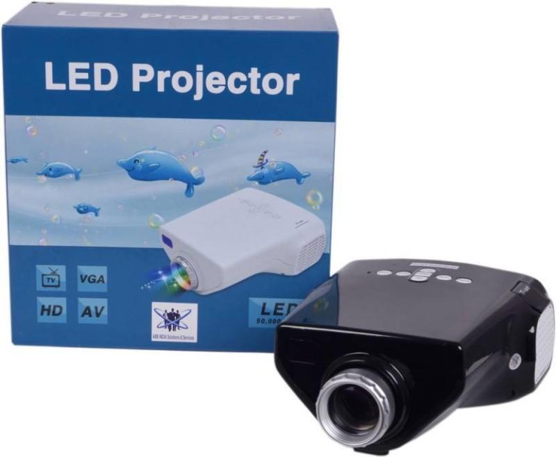 Wonder World  Original Mini E03 LED 50 lm LED Corded Portable Projector(Black) image