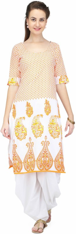 Pret A Porter Printed Kurti & Salwar(Stitched)