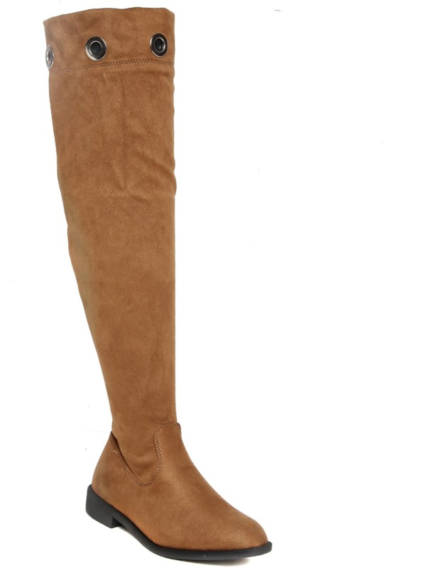 Flat n Heels Boots For Women(Tan)