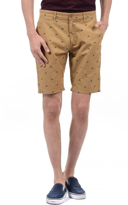Izod Printed Men Beige Basic Shorts