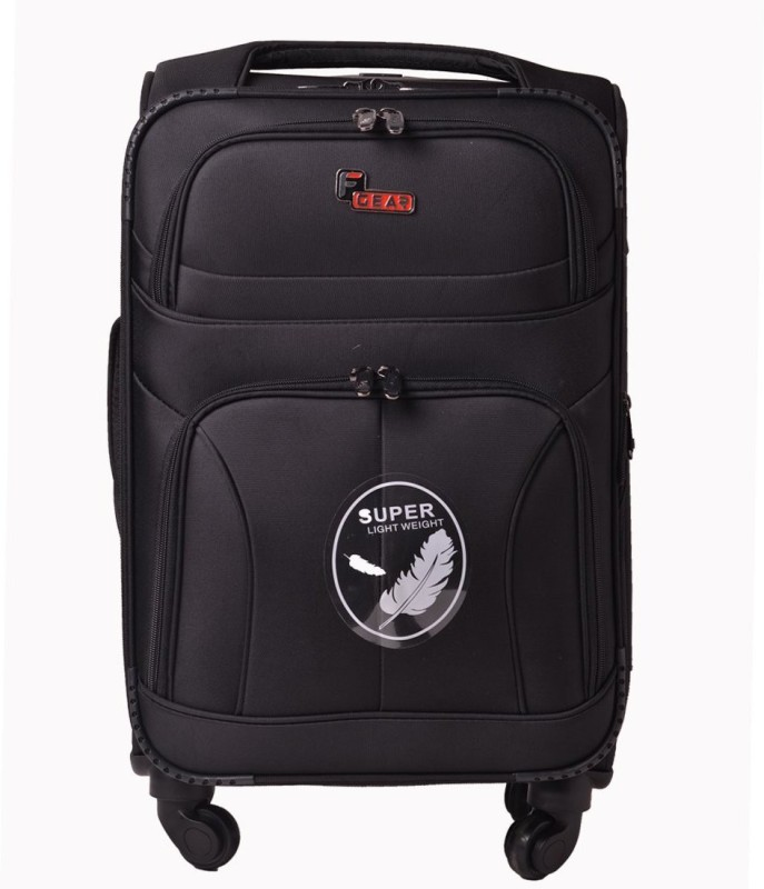 F Gear Torq Expandable Cabin Luggage - 20 inch(Black)