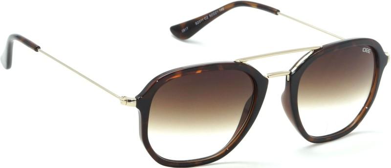 IDEE Rectangular Sunglasses(Brown)