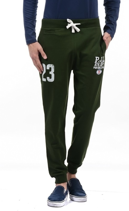 Pepe Jeans Solid Mens Green Track Pants
