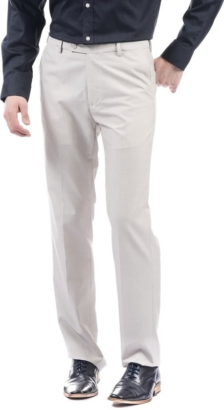 Arrow Regular Fit Men White Trousers