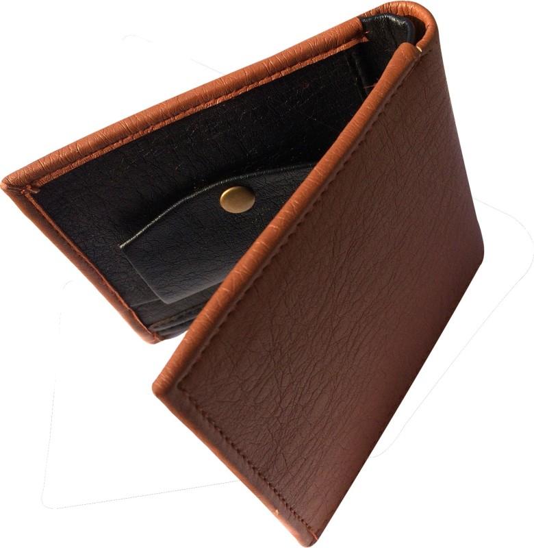 FRIENDS & COMPANY Men Tan Genuine Leather Wallet(8 Card Slots)