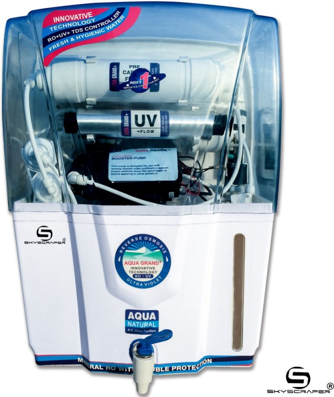 Aquagrand Plus Revive 12 L RO + UV + UF + TDS Water Purifier(White)