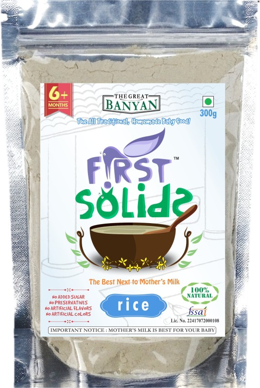 First Solids Organic Baby Rice Porridge Mix Cereal(300 g)