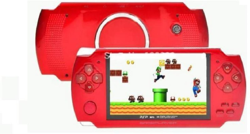 JK ERFINDERS PSP GAMES 10000 INBUILTS ,8 GB INTERNAL MEMORY, 4.3 DISPLAY, MUSIC Handheld Gaming Console(Red)