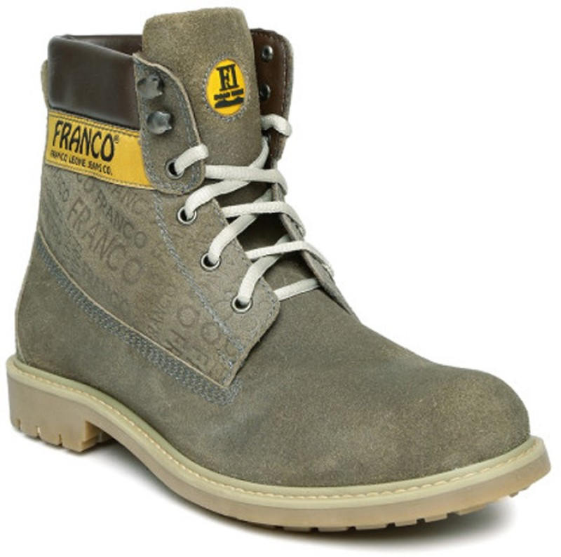 FRANCO LEONE 9911 Boots For Men(Grey)