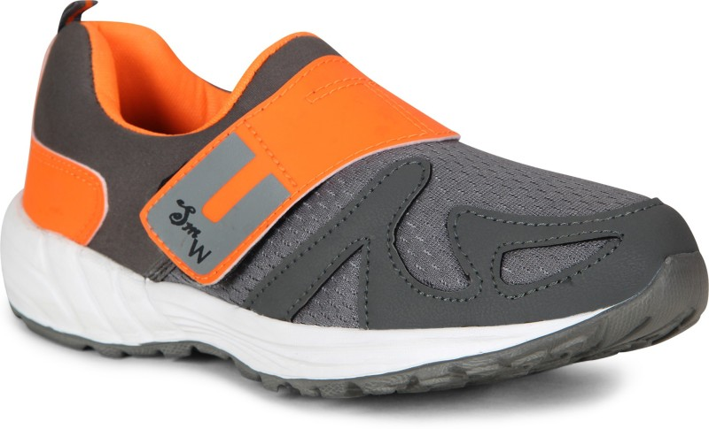 Smartwood Running Shoes ,Walking Shoes ,Hiking And Trekking Shoes ,Cricket Shoes , Walking Shoes, Training & Gym Shoes, Motorsport Shoes, Cycling Shoes for Men And Boys Running Shoes For Men(Black, Orange)