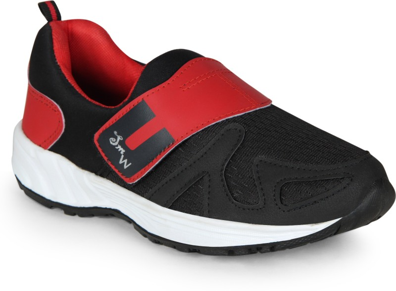 Smartwood Running Shoes ,Walking Shoes ,Hiking And Trekking Shoes ,Cricket Shoes , Walking Shoes, Training & Gym Shoes, Motorsport Shoes, Cycling Shoes for Men And Boys Badminton Shoes For Men(Black, Red)