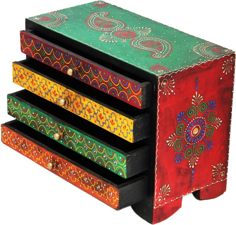 shreeng-four-drawer-embossed-wooden-box