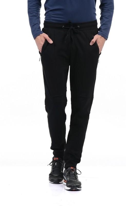 Pepe Jeans Solid Mens Black Track Pants