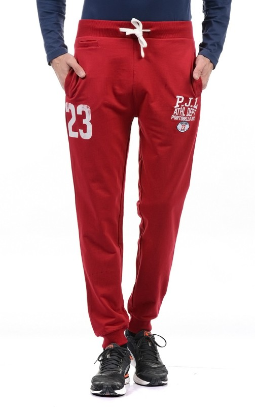 Pepe Jeans Solid Mens Red Track Pants