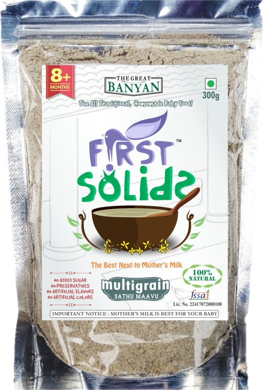 First Solids Organic Baby Multigrain (Sathu Maavu) Porridge Mix Cereal(300 g)