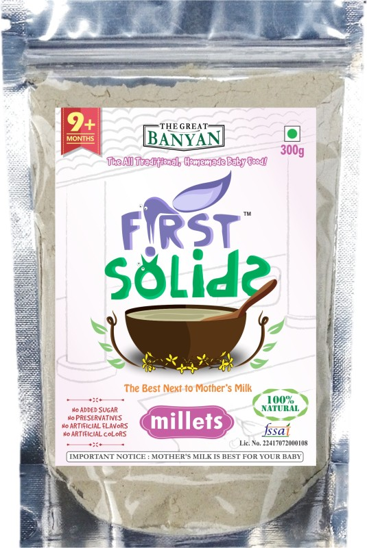 First Solids Organic Baby Millets Porridge Mix Cereal(300 g)