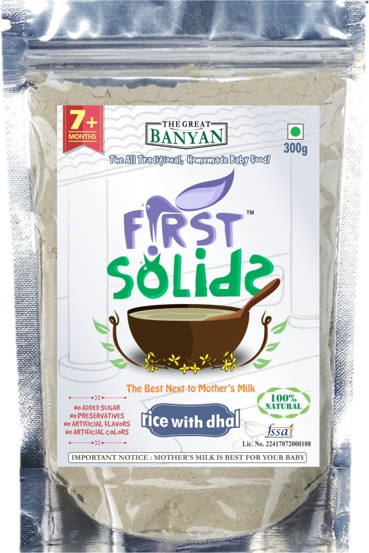 First Solids Organic Baby Rice with Dhal Porridge Mix Cereal(300 g)