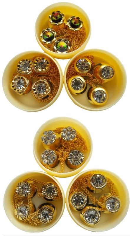 TLO jeans Button Diamond sherwani button Brass, Stone Buttons(Pack of 24)