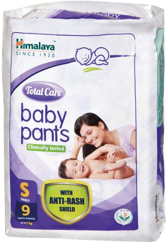 Himalaya Total Care Baby Pants - S(9 Pieces)