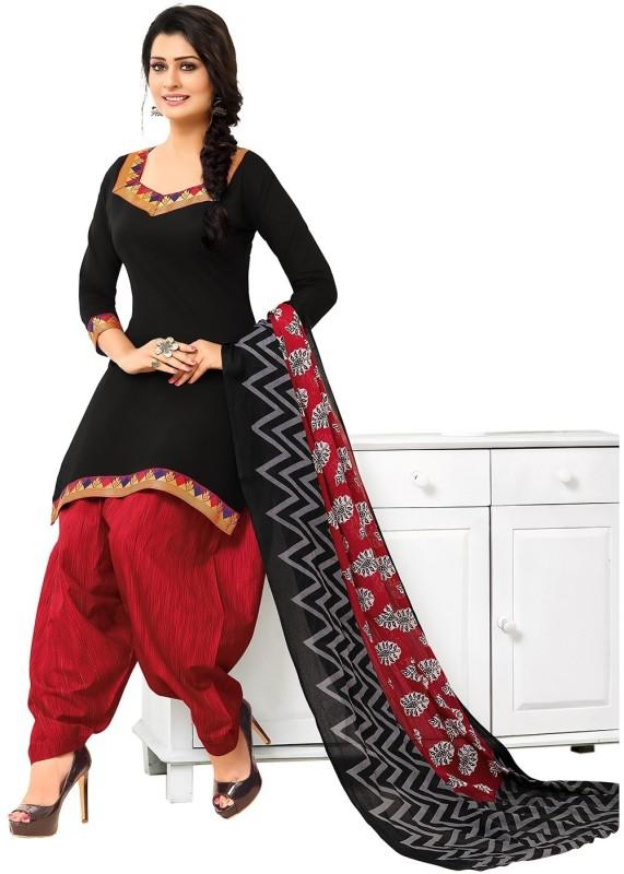 Jevi Prints Cotton Solid, Self Design, Printed Salwar Suit Dupatta Material(Un-stitched)