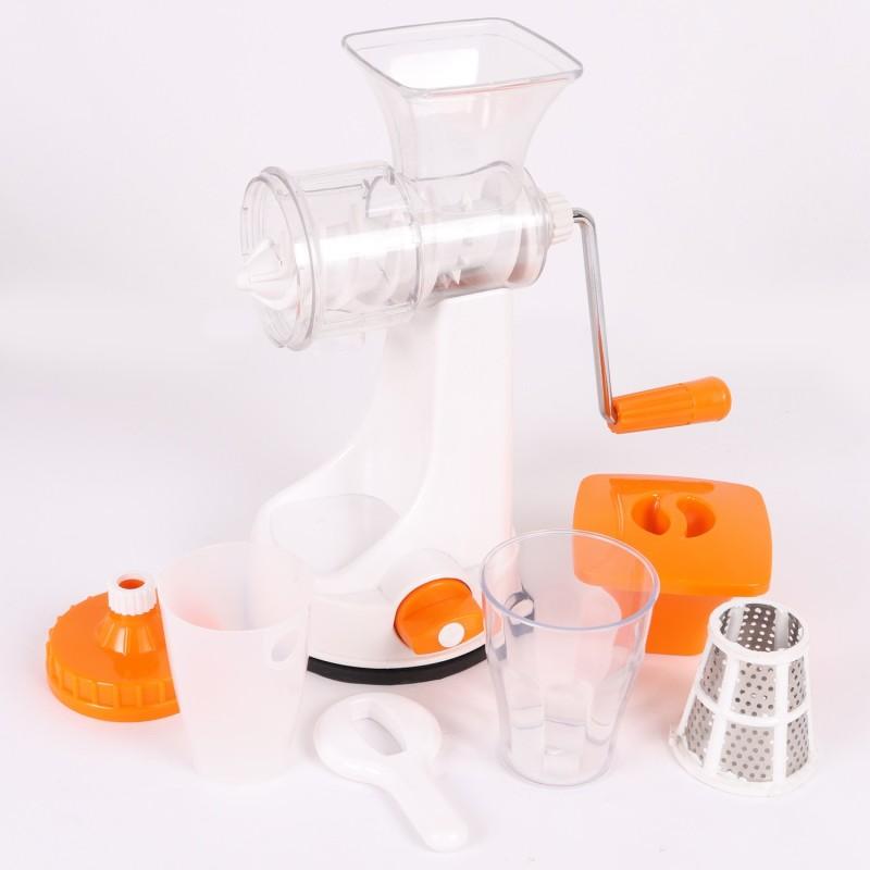 Bluzon Multi Fruits & Vegetable Plastic, Stainless Steel Hand Juicer(Orange)