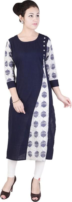 Jai Kurties Casual Printed Women's Kurti(Blue)
