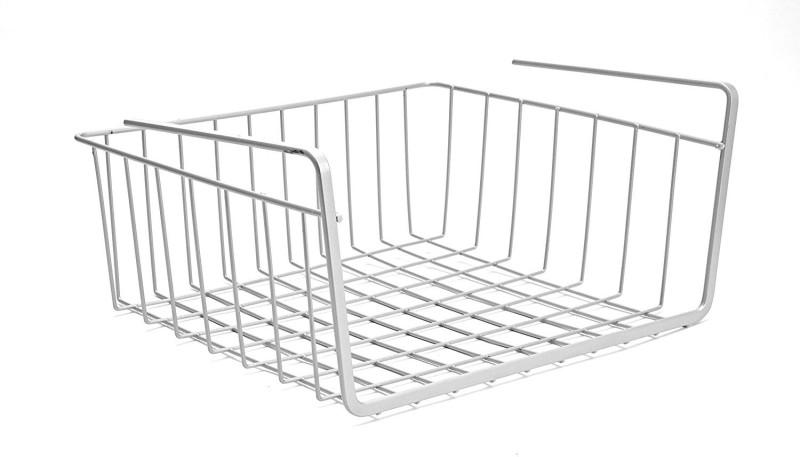 JVS Undershelf Basket Small - Combo Plastic Kitchen Rack(Silver)