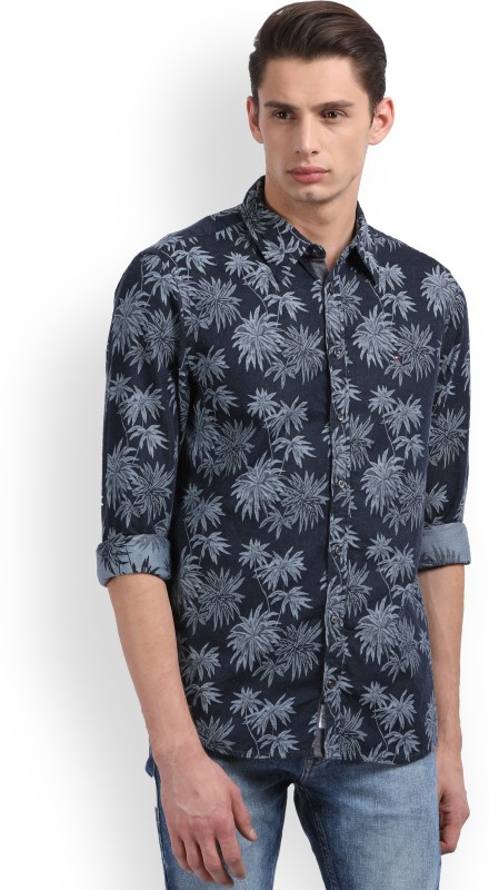Tommy Hilfiger Mens Floral Print Casual Shirt