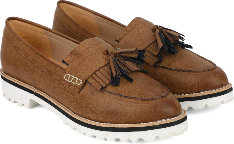 Carlton London CLL-3922 Moccasins Shoes For Women(Tan)
