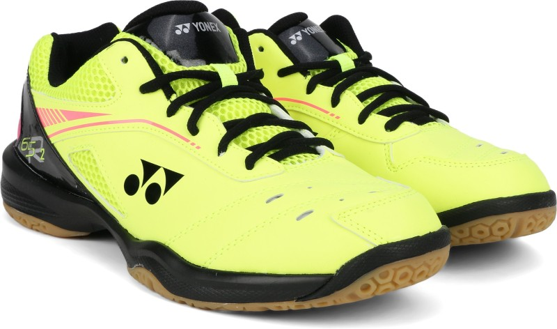 Yonex SHB65R2EX Badminton Shoes For Men(Black, Yellow)