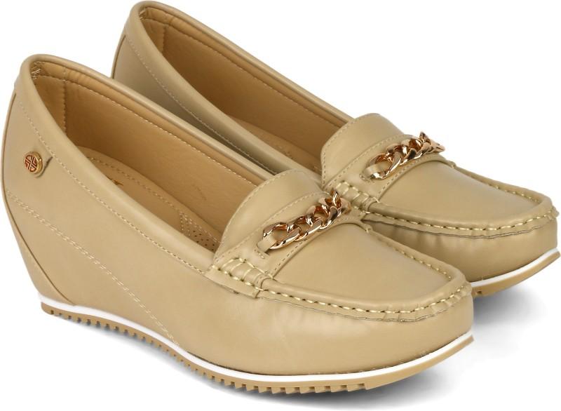 Carlton London CLL-4054 Loafers For Women(Beige)