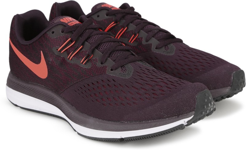 Nike ZOOM WINFLO 4 Running Shoes For Men(Burgundy)