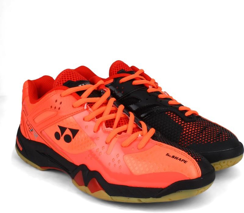 Yonex SRCP02 Badminton Shoes For Men(Red, Black)