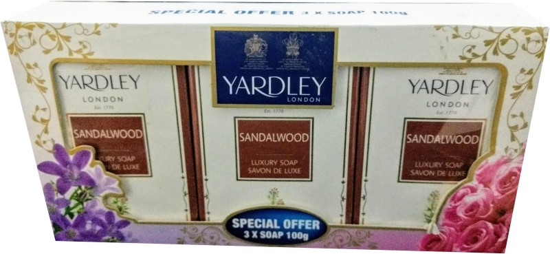 Yardley Sandalwood Soap (Imported, 100gm, Pack of 3)(100 g, Pack of 3)