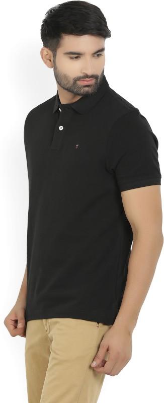 LP Louis Philippe Solid Mens Polo Neck T-Shirt