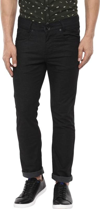 Mufti Skinny Fit Men Black Trousers