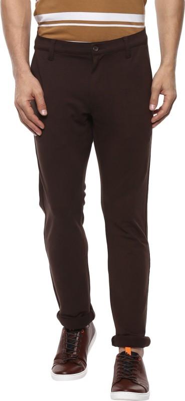 Mufti Slim Fit Men Brown Trousers