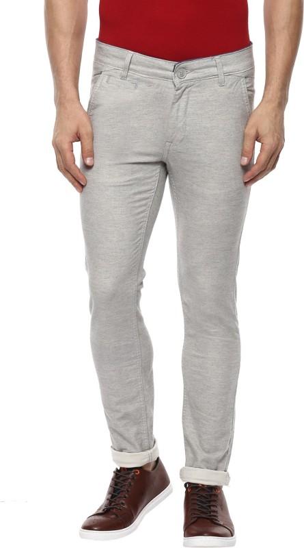 Mufti Slim Fit Men Grey Trousers