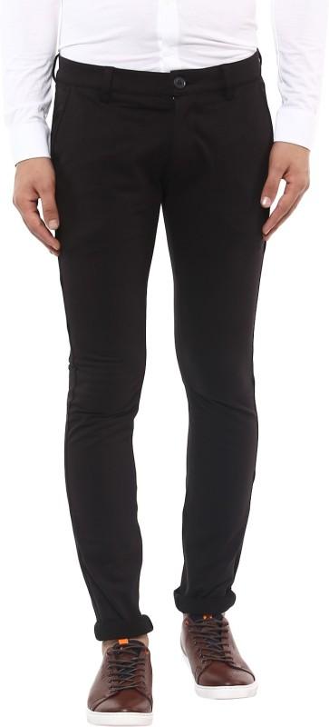 Mufti Slim Fit Men Black Trousers