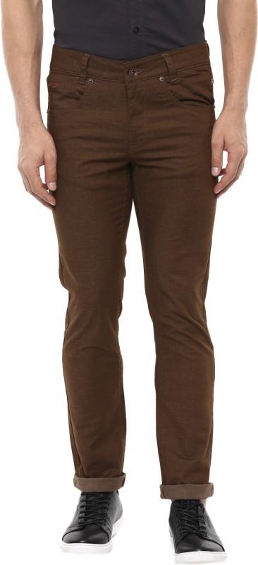 Mufti Skinny Fit Men Brown Trousers