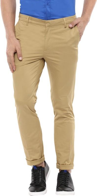 Mufti Slim Fit Men Beige Trousers